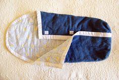 Baby boy denim and flannel sleep sac by fohnbaby on Etsy, $40.00
