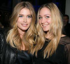 Doutzen Kroes with sister