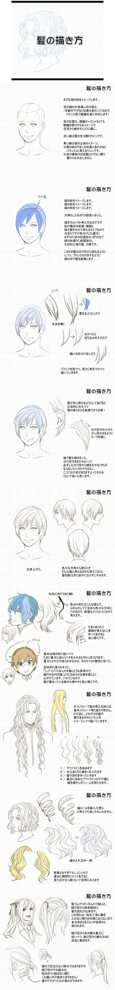 髪の描き方 [10] - 人體素描 - PoLoves