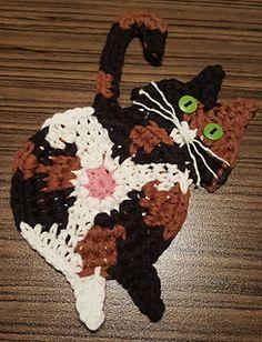Ravelry: Peeking Cat Butt Coaster pattern by Upper Crust Crochet Crochet Home, Cute Crochet, Knit Crochet, Cat Crafts, Crafts To Do, Cat Coasters, Cat Quilt, Cat Pattern, Free Pattern