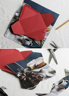 handmade stationery and patterned pencils