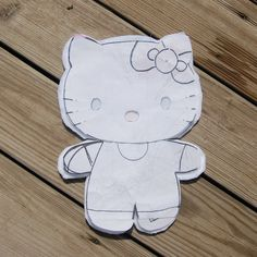 And now, a tutorial on how to take a flat picture and turn  it into a softie. Hello Kitty is widely available in various forms,  including s...