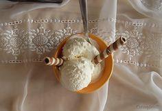 Coisas simples são a receita ...: Gelado de chocolate branco e baunilha