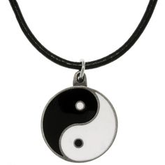 Carolina Glamour Collection Pewter Yin Yang Leather Cord Necklace ($18) ❤ liked on Polyvore featuring jewelry, necklaces, accessories, black, yin yang necklace, cord necklace, leather pendant, pewter necklace and yin yang jewelry