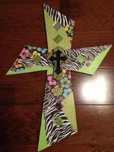 Scrapbook Paper Cross
