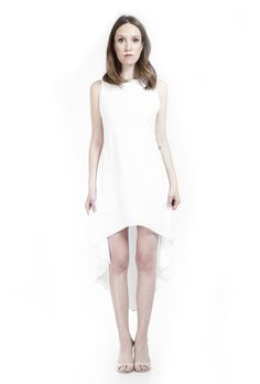 The Lauren High Low- White