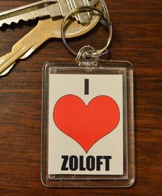 Funny Keychain  I Heart Zoloft   Hillarious by ImJustSayinInc, $3.50...um i NEED this!