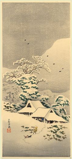 Winter Scene/ Nihonmatsu/ Winter Snow/ Snow on Mukojima Bank - Shotei 1923-1927