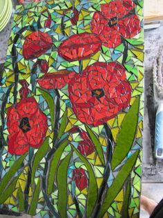 Mosaic by Kat Gottke ,, called POPPIES