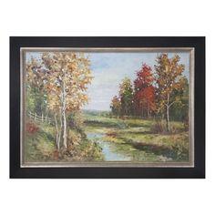 Country Creek Landscape Framed Artwork by Uttermost