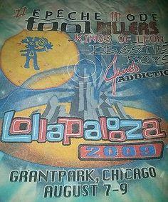 Depeche Mode shirt Tool Beastie Boys Killers  Lollapalooza Festival