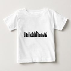 Pittsburgh Skyline Baby T-Shirt - drawing sketch design graphic draw personalize