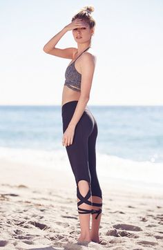 Free shipping and returns on Free People 'Turnout' Tie Up Leggings at Nordstrom.com. Hit the dance studio in these high-performance capri leggings crafted from breathable, two-way-stretch microfiber that supports and flatters your legs. A surplice waistband contours to your shape, and ties around the calves can be worn a variety of ways f