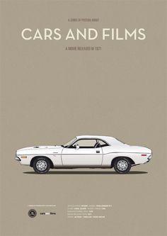 Vanishing Point (1971) ~ Minimal Movie Poster by Jesus Prudencio ~ Cars and Films Series