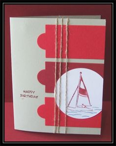 3 red Boat by TrishG - Cards and Paper Crafts at Splitcoaststampers