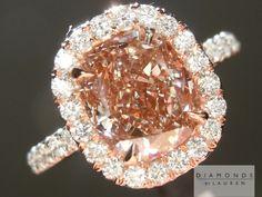 one day....Pink Diamond | Pink Diamond Ring | Cushion Cut Diamond Ring
