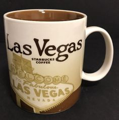 Starbucks LAS VEGAS Coffee Tea Cocoa Global Icon city mug 16oz 2012 #Starbucks