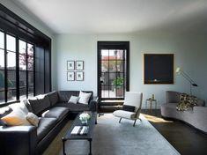 deep window wells - Sara Story | Projects | Manhattan Triplex Best Corner Sofa, Corner Sofa Design, Living Room New York, Home And Living, Living Spaces, Modern Living, Living Rooms, Domaine Home, Design Salon
