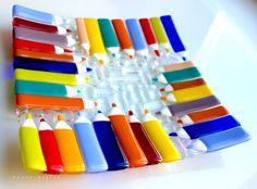 авторская работа, лилия горбач, стекло, фьюзинг, handmade, glass, посуда, тарелка, блюдо, цветное, кухня,