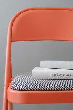 makeover a folding chair - DIY Painted chair by Design for Mankind