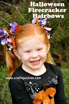 Halloween Firecracker Hairbows - my mom made these for us when we were kids and I still wear mine. :)