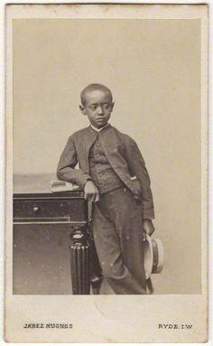 Prince Alemayehu Tewodros of Ethiopia, 1868    by (Cornelius) Jabez Hughes  albumen carte-de-visite, 1868