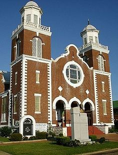 Brown Chapel AME Church in Selma AL, starting point of Selma-to-Montgomery marches  (for voting rights) in 1965; now a national historic landmark