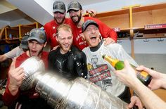 Kane and friends with the cup