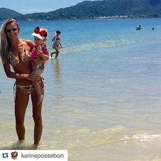 Toda elegância e beleza de @karinepossebon curtindo a princesa com o Ripple Babado Tribal ❤️Amamos  #Repost @karinepossebon with @repostapp. ・・・ Minha Catarina