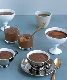 Creamy and luxurious, this pudding keeps in the refrigerator for up to 2 days. Get the recipe for Chocolate Pots.