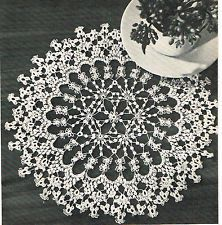 We are looking for the pattern for this doily which highlights one shuttle (all rings) work. It might be from Workbasket but I think it is in one of the old 10-cent books. If you spot it please email AKTATTER@aol.com