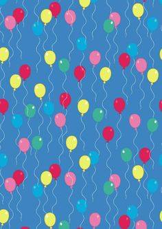 Birthday balloons scrapbook paper