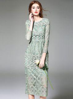 Brief Long Sleeve Maxi Dress