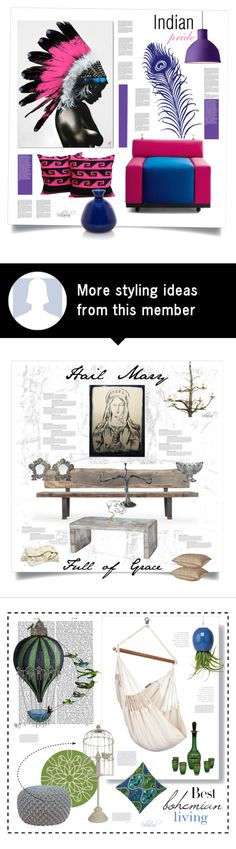 """ˈɪndiən praɪd"" by riza-villareal on Polyvore featuring interior, interiors, interior design, home, home decor, interior decorating, Meritalia and Muuto"