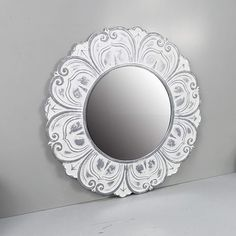pin it for later. Read more on french country bathroom accessories. NIKKY HOME 20 Inch Decorative Metal Round Wall Mirror, White. This decorative wall mirror constructed of durable iron, a round glass mirror with clear reflection and moisture-proof MDF board. Durable metal frame specially manufactured to last for many years to come. Mirror provides a distortion-free reflection, making this an ... #frenchcountrybathroomaccessories