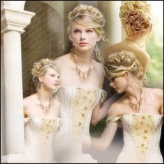 Print out photos of Taylor Swift hairstyles. Save images print and take to