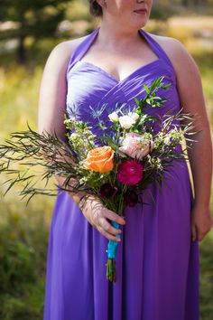 Colorful Rustic Bohemian Fall Wedding in the Mountains|Photographer: Cimbalik Photography