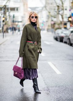 Salbei Grün Street Style