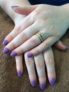 Pretty pastel purple nails done in salon. Ph 085 2052600 for apt or www.jennifersalonclonmel.com