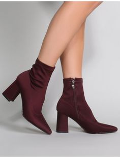a77d37202bea Grizzly Sock Fit Boots in Burgundy