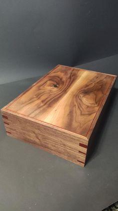 Walnut Tea BoxHandmade Tea Boxstorage tea box Chest Tea Bag   Etsy Coffee Table Upcycle, Wooden Tea Box, Tea Varieties, Magnetic Knife Holder, Secret Space, Personalised Box, Box With Lid, Diy Box, Wood Boxes