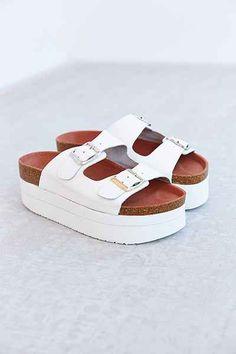 f3e492bc6820 Sixtyseven Indigo Platform Sandal - Urban Outfitters Birkenstock