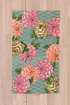 Plum  Bow Picnic Floral Rug #urbanoutfitters