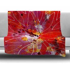 East Urban Home Flame by Li Zamperini Fleece Blanket