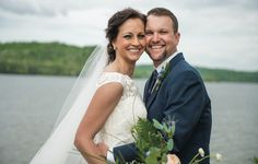 Bride and groom portrait. Love this! See more from this lakeside Knoxville wedding inspiration at @whitestoneinn with navy and gold details! Pics by @TonyaDamron1 | The Pink Bride® www.thepinkbride.com