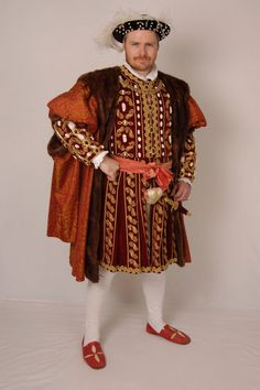 Pattern for Henrician Man's Gown, Doublet, Jerkin and Hose - Large Sizes