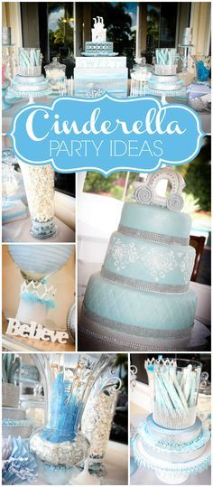 Love this royal Cinderella party for a first birthday! See more party ideas at CatchMyParty.com!