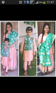 B dress mom and baby outfits, mother daughter outfits, family outfits, mom daughter Mom And Son Outfits, Mom And Baby Dresses, Baby Boy Dress, Mother Daughter Outfits, Family Outfits, Baby Boy Outfits, Kids Outfits, Mother Son, Kids Indian Wear