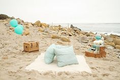 cute little beach hangs... bonfire side?
