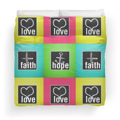 'Love Faith Hope Love' Duvet Cover by Ioan Rosca Nastasescu College Dorm Bedding, Faith Hope Love, Love S, Duvet Covers, Art, Art Background, Kunst, Performing Arts, Art Education Resources